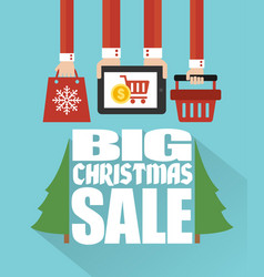 Big christmas sale concept modern flat design vector