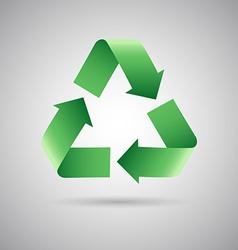 Green recycle symbol icon vector image