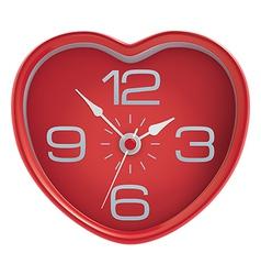 Heart shaped clock vector image vector image