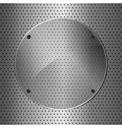 metal and glass circle vector image