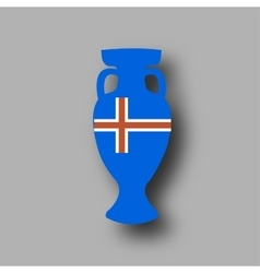 sport competition cup Iceland participant vector image vector image
