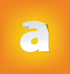 A lowercase letter fold english alphabet new vector