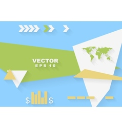 Abstract concept flat tech design vector image