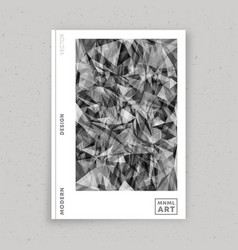abstract minimal design for flyer poster vector image