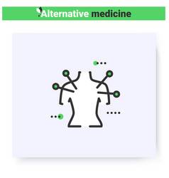 Acupuncture line icon editable vector