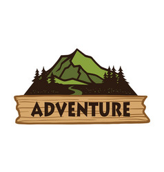 adventure camping mountain logo emblems template vector image