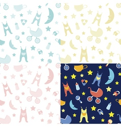 Baby bedrooms pattern vector