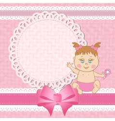 Baby shower birthday card vector