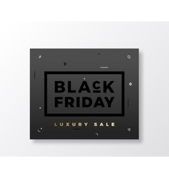 Black Friday Swiss Style Minimal Banner or Flyer vector image