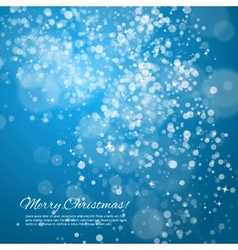 Blue night christmas background vector image