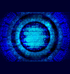 blue tech background design technology abstract vector image
