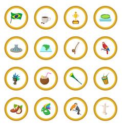 Brazil icon circle vector