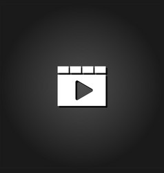browser video player icon flat vector image