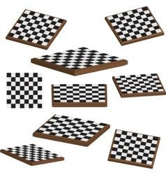 Chess board set 3d vector
