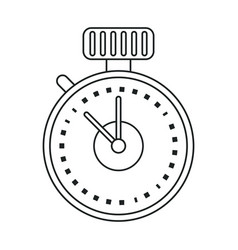 Chronometer time sport tool outline vector