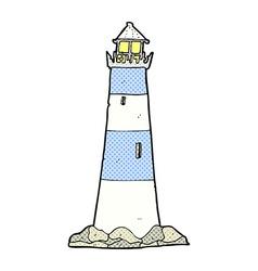 Comic cartoon light house vector