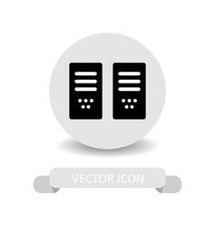 computer host icon vector image