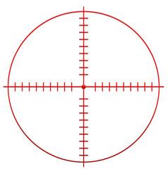 Crosshair reticle vector