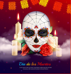 day of dead composition vector image