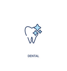 dental concept 2 colored icon simple line element vector image