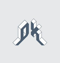 Dx - 2-letter code d and x - monogram or logotype vector