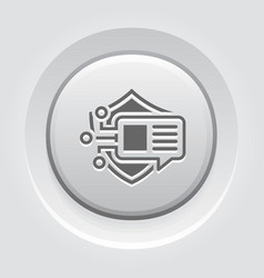 Encrypted messaging button icon vector