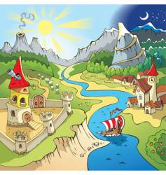 Fairy-tale landscape vector