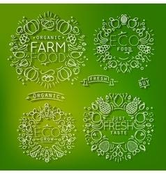 Farm elements green vector