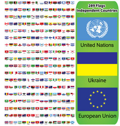 Flags all countries in world vector