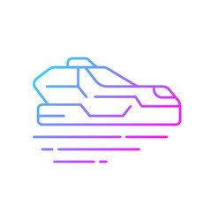 flying car gradient linear icon vector image