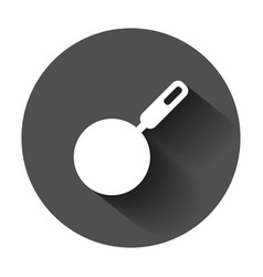 frying pan icon in flat style cooking pan with vector image