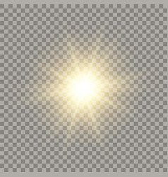 Golden shining sun vector