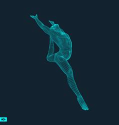 Gymnast man 3d human body model vector