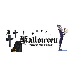 halloween vampire in coffin draculas monster in vector image