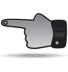 Hand design element vector image