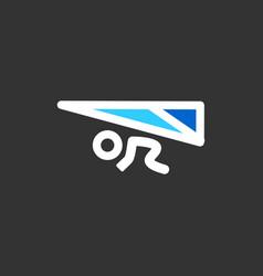 Hang glider concept - minimal icon flat vector