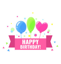happy birthday design for greeting cards and vector image