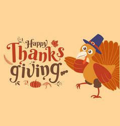 Happy thanksgiving day autumn typography vector