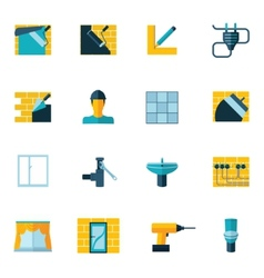 Home Repair Icons Flat vector image