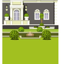 House facade garden vector
