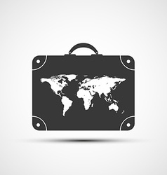 icons travel suitcases vector image