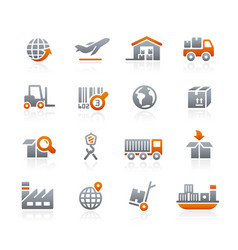industry and logistics - graphite series vector image