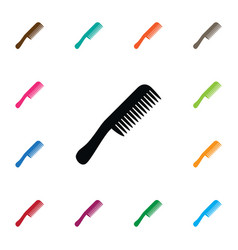 isolated barbershop icon comb element can vector image