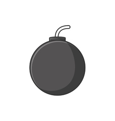 Isolated bomb explosion design vector image