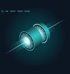 isometric science technology banner vector image