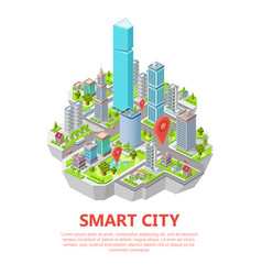 Isometric smart city 3d vector