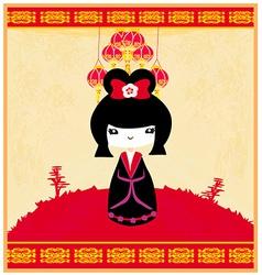 Kokeshi doll vector image