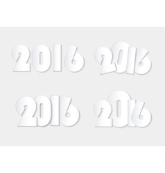 light white style 2016 new year combinations vector image