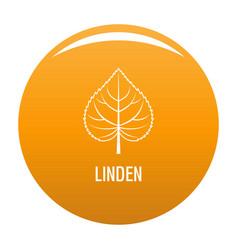 linden leaf icon orange vector image