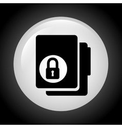 lock folder design vector image